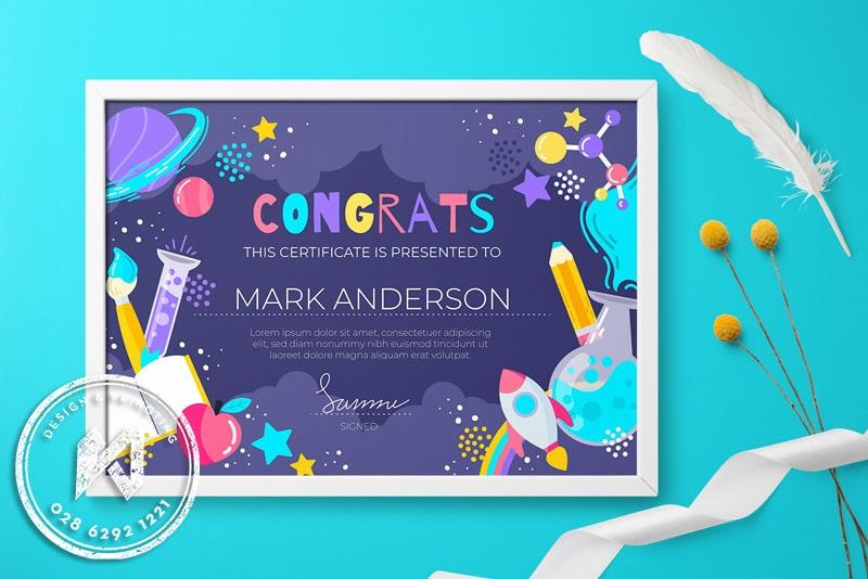 Congrats certificate kid - Bằng khen cho trẻ em đầy màu sắc