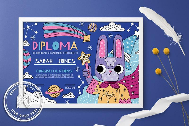 Diploma Certificate - Mẫu giấy khen giáo dục trẻ em