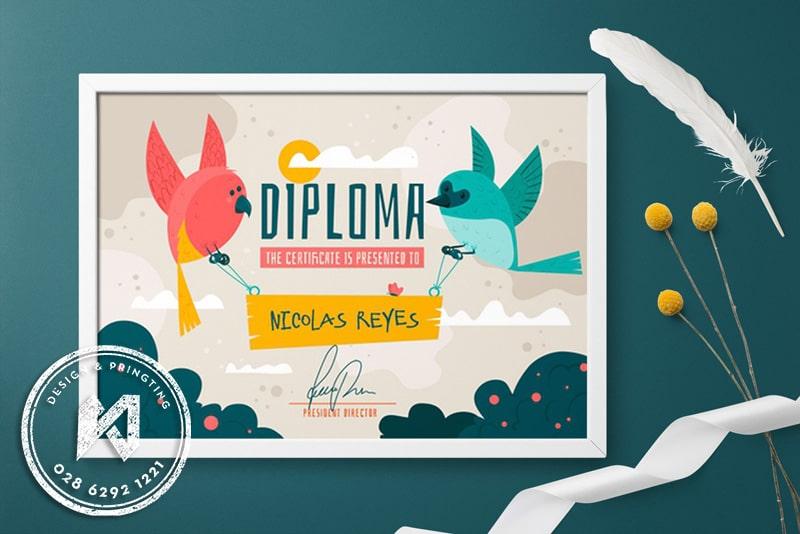 Diploma Kid Thiết kế giấy khen mẫu giáo/trẻ em