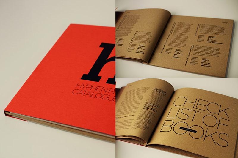 Đóng keo gáy catalogue giấy kraft đặc biệt