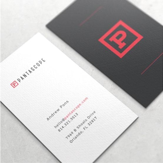 In card visit giấy mỹ thuật đơn giản