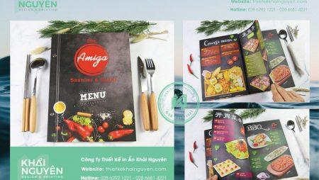 Mẫu menu nhà hàng Amigi ẩm thực Á Đông đặc sắc