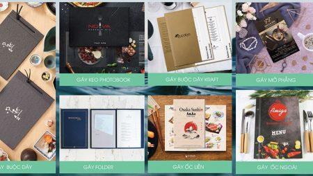 In menu bìa cứng TPHCM nổi tiếng khắp trong & ngoài nước.
