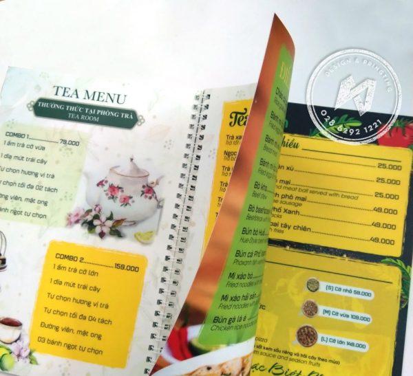 In menu nhựa mỏng - thực đơn nhựa mỏng