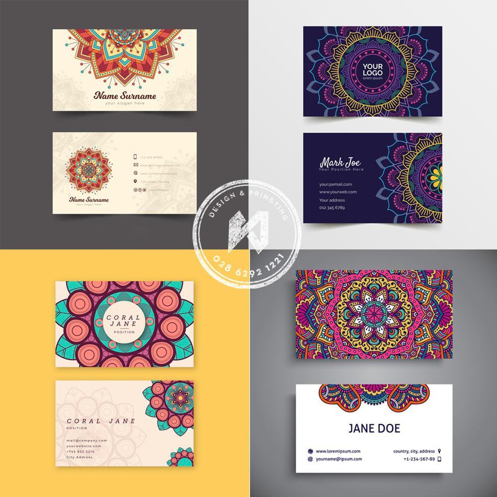 Giới thiệu bảng thiết kế name card Mandalas