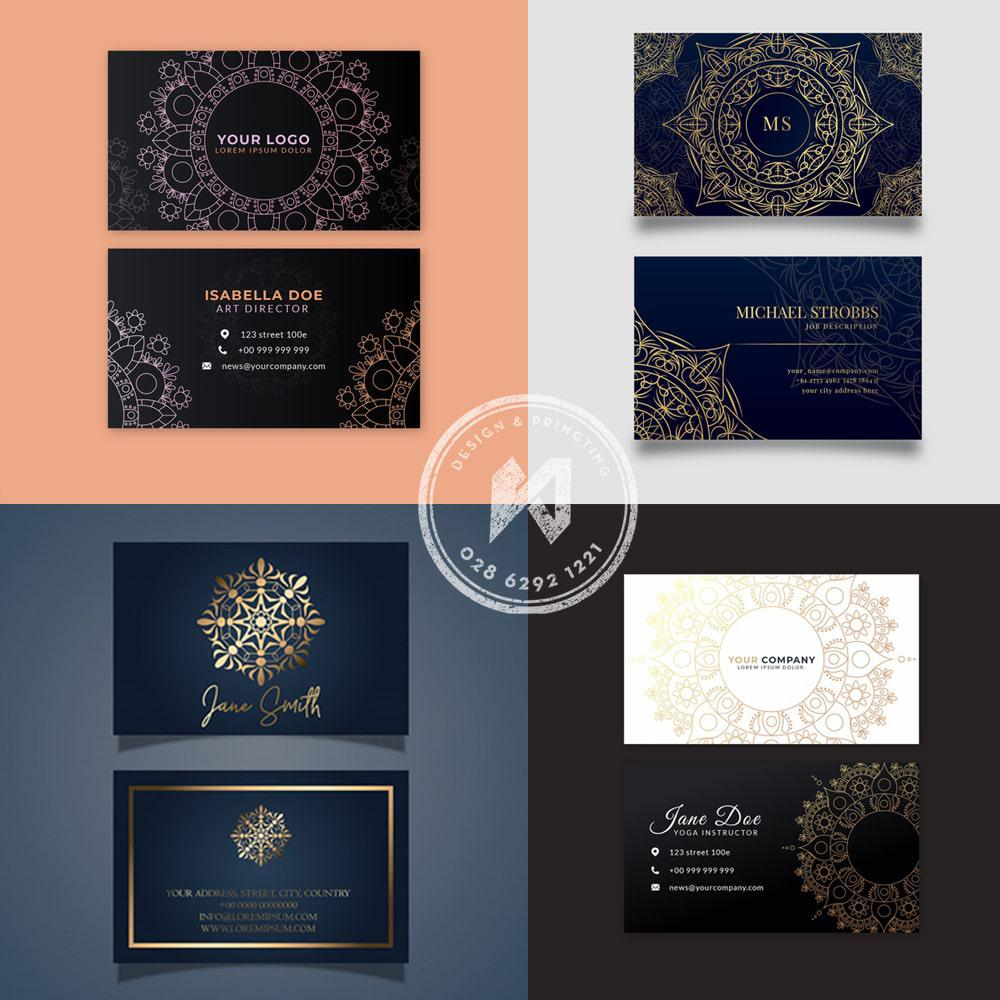 Mẫu Card visit với thiết kế hoa văn Mandalas