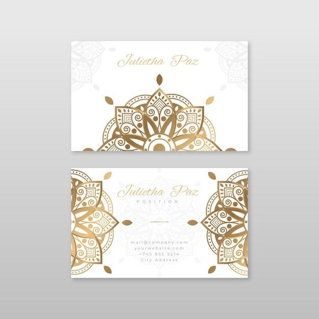 Mẫu thiết kế card visit hoa văn Mandalas đẹp huyền bí