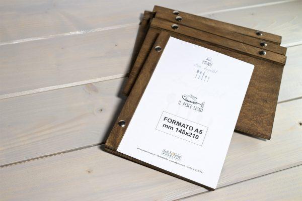 In menu gỗ tự nhiên cover với thanh ngang