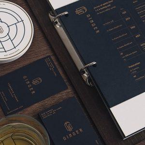 In menu giấy mỹ thuật ép kim