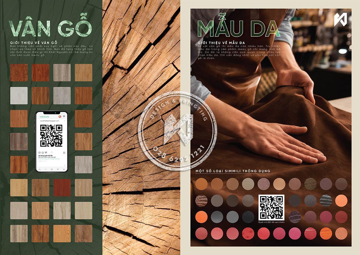 Chất liệu gỗ & da dùng làm thực đơn bìa gỗ cao cấp