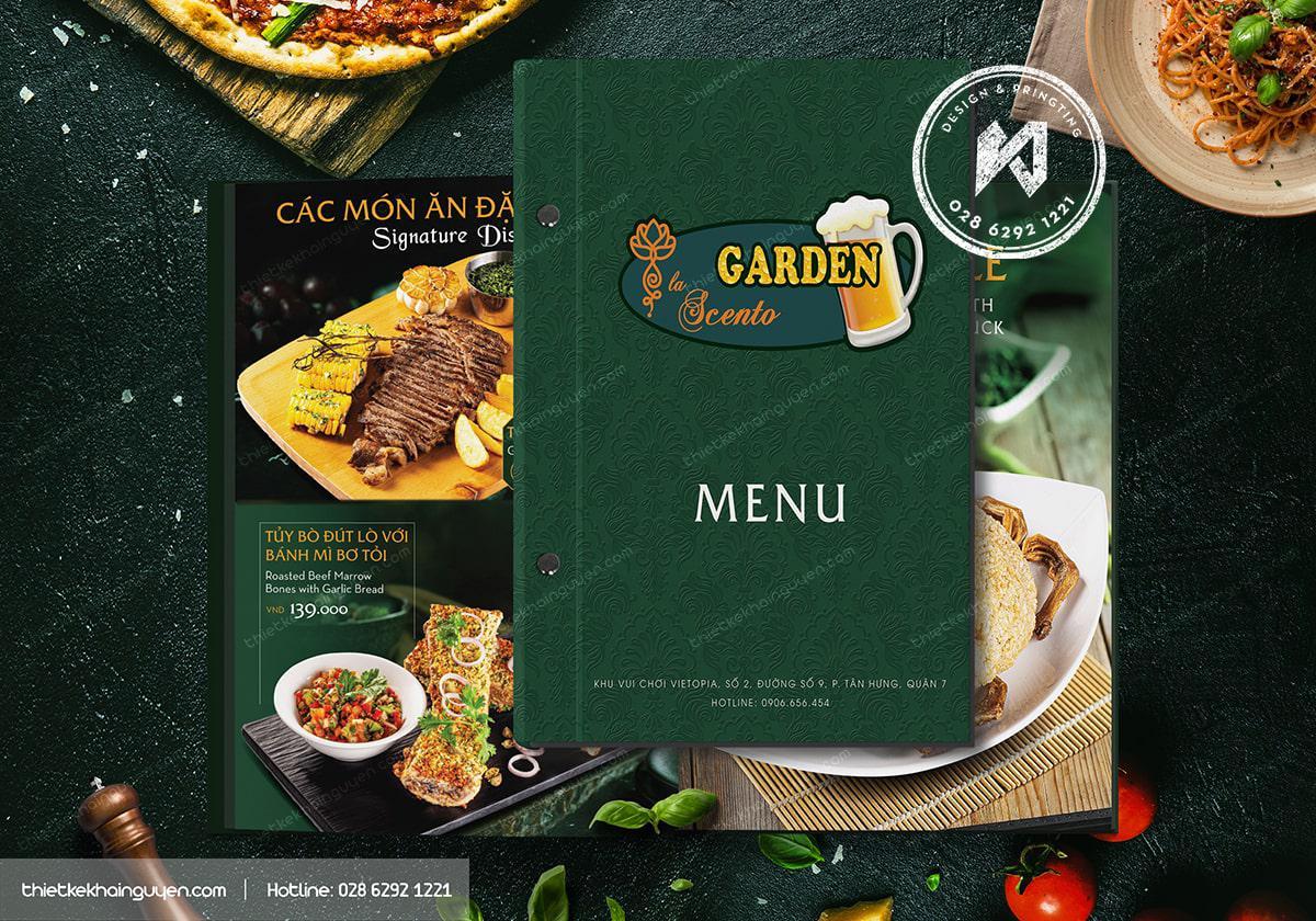 Mẫu thiết kế & in menu bìa cứng cho nhà hàng