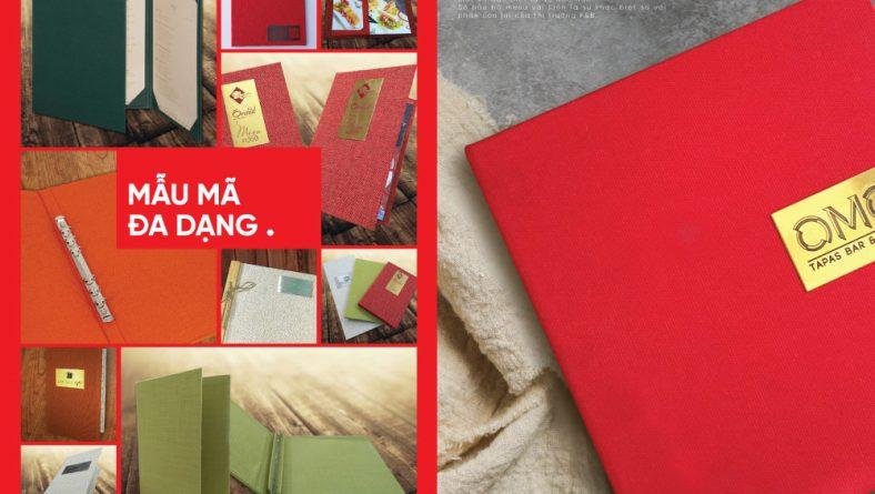 Bìa menu vải - in menu vải linen rẻ đẹp sang trọng