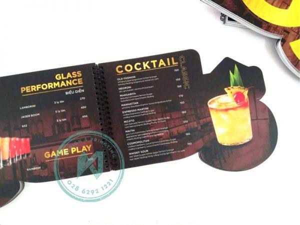 In menu nhựa bế hình dạng đặc biệt