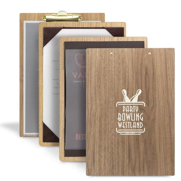 Thực đơn gỗ tự nhiên tiện dụng