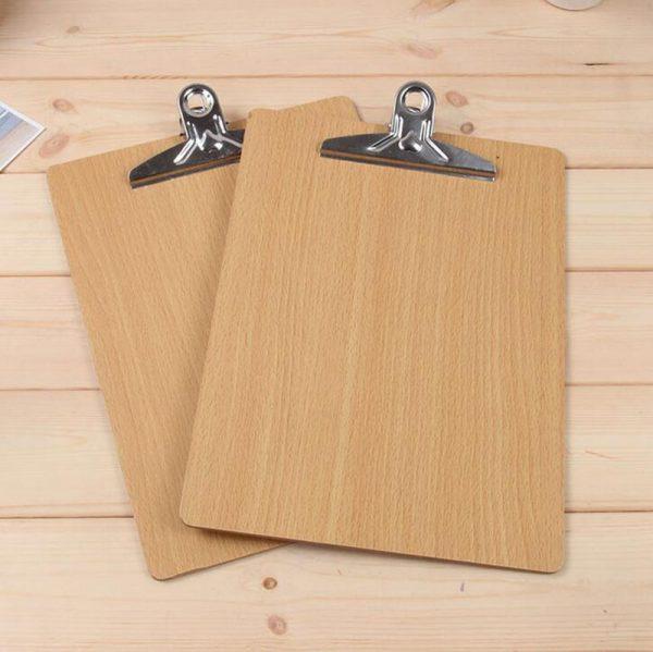 In menu gỗ cầm tay