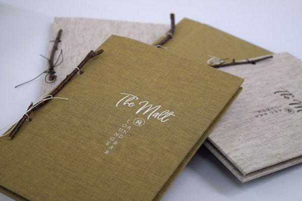 Bìa menu vải handmade đặc biệt