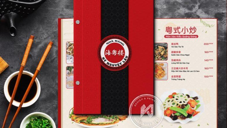 Thiết kế menu nhà hàng ấn tượng
