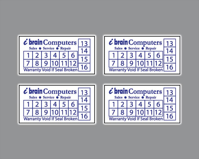 Làm tem bảo hành giá rẻ nhất với decal giấy