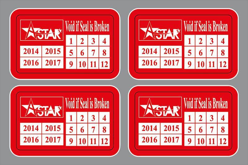 Thiết kế tem bảo hành có thông tin thương hiệu