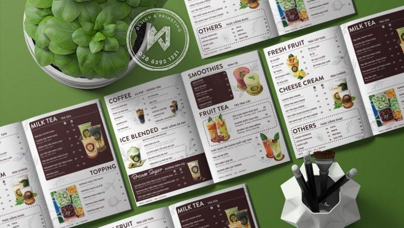 Thiết kế menu quán cà phê chuyên nghiệp - HUB COFFEE
