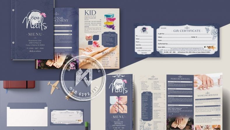 Ispa Nails Branding - 10 bộ thiết kế nails spa hàng đầu hiện nay