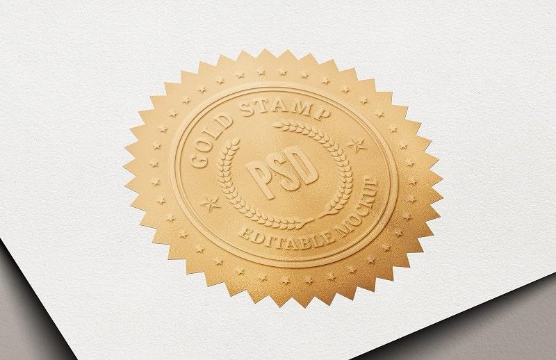 Stamp logo màu chuyên nghiệp