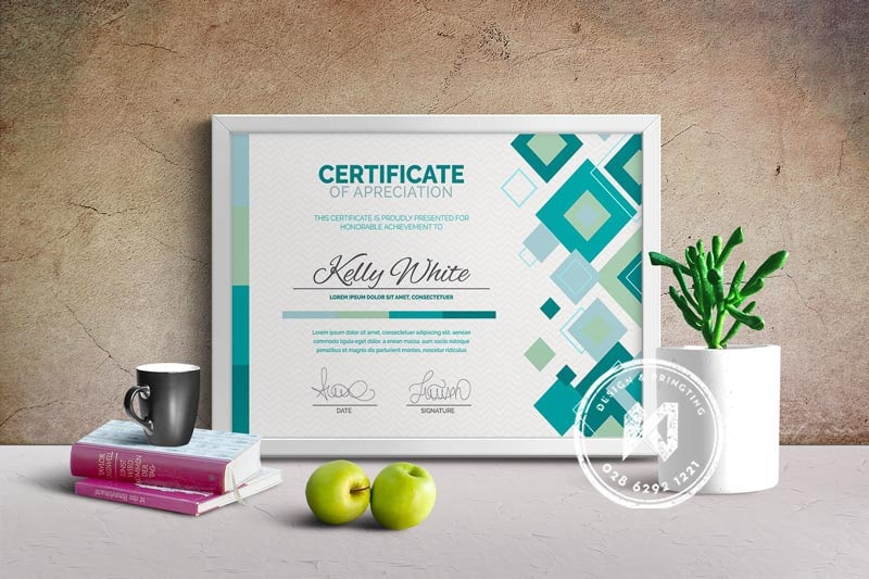 Certificate template chuyên nghiệp từ file vector