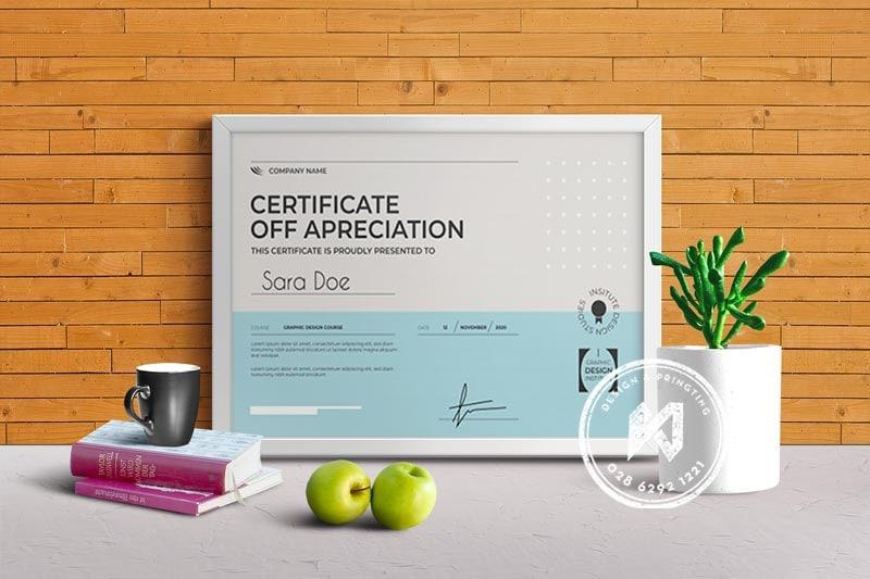Mẫu thiết kế giấy khen thưởng đẹp