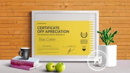 Mẫu giấy khen thưởng dịp cuối năm. File chuẩn vector.