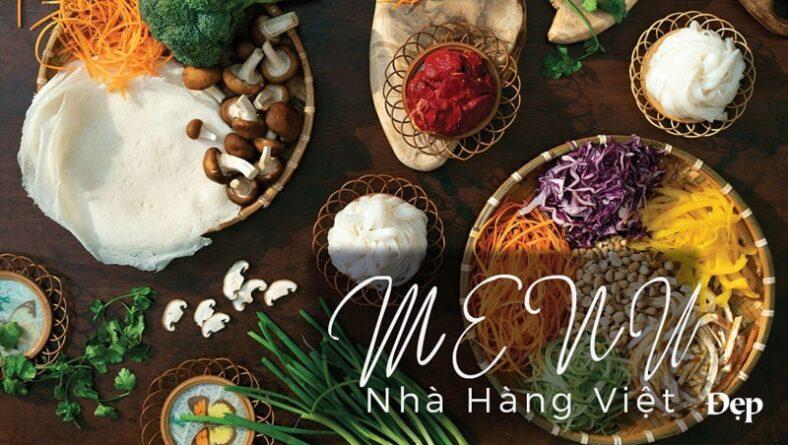 Thiết kế menu nhà hàng Việt đẹp và sang trọng