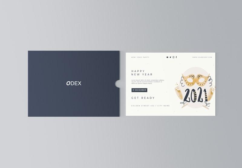 Thiết kế thiệp chúc mừng năm mới đơn giản ý nghĩa