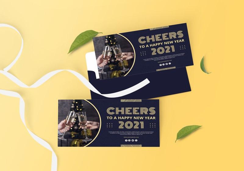 Thiết kế thiệp mời dự tiệc cuối năm