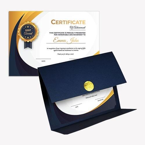 Mẫu bằng khen công ty - giấy khen thưởng công ty(PREMIUM CERTIFICATE)