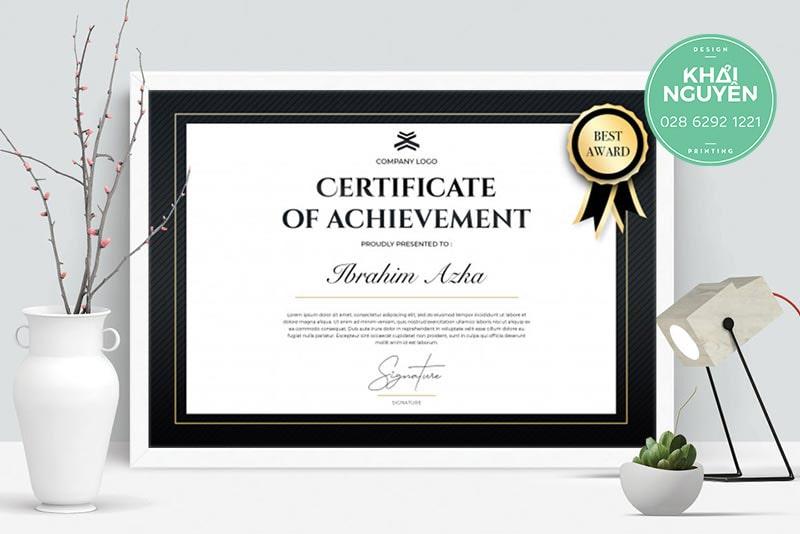 Thiết kế giấy khen thưởng chuyên nghiệp cho công ty