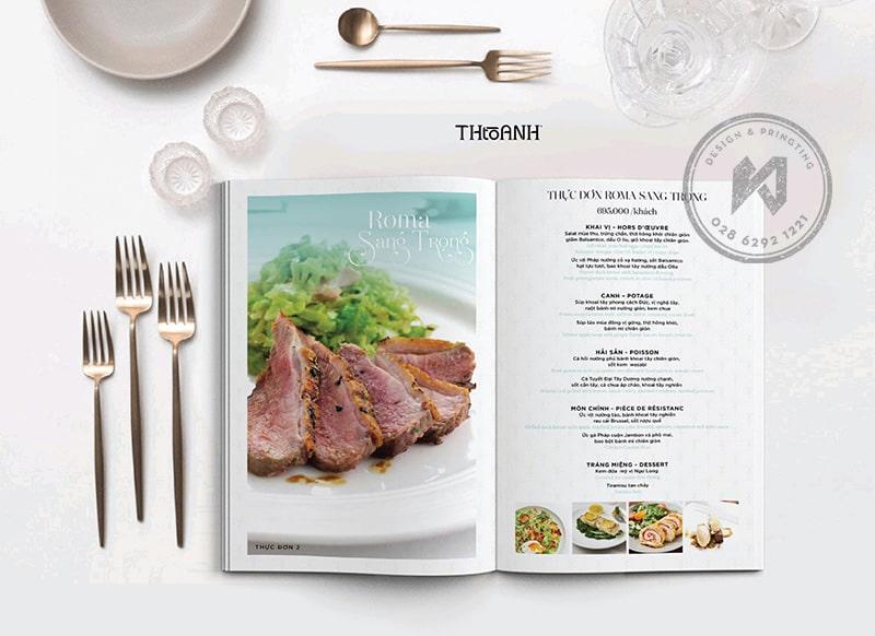 Francis Hội Restaurant - Menu design