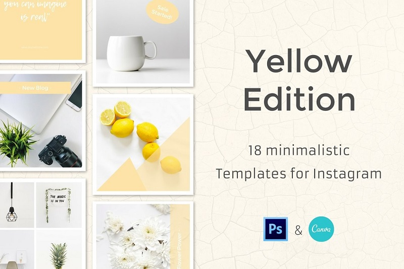18 Minimalistic Templates for Instagram