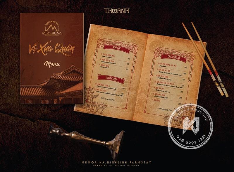 Một phần trong bộ thiết kế nhà hàng Việt - Vị Xưa Quán