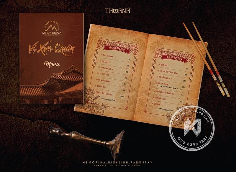 Thiết kế menu nhà hàng Việt Truyền Thống