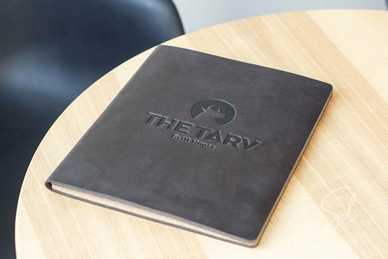 Cover leather menu MDF