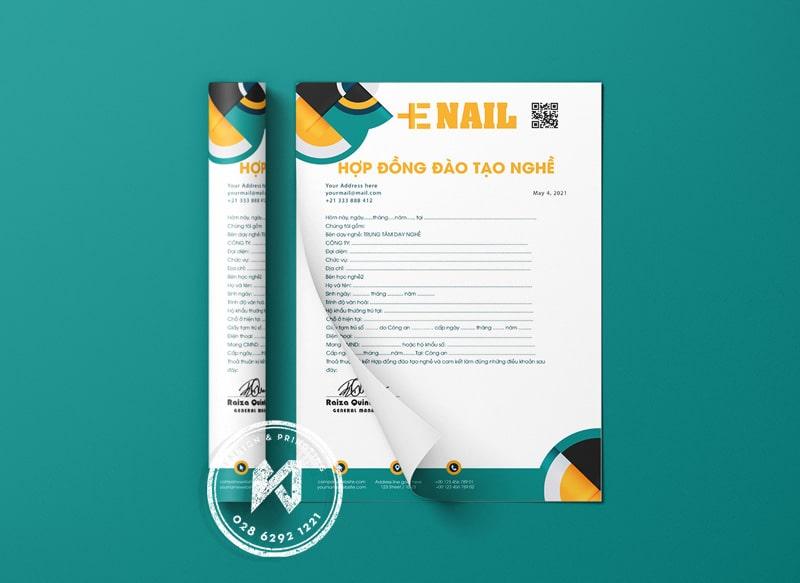 Thông tin hợp đồng đào tạo nghề Nail Spa