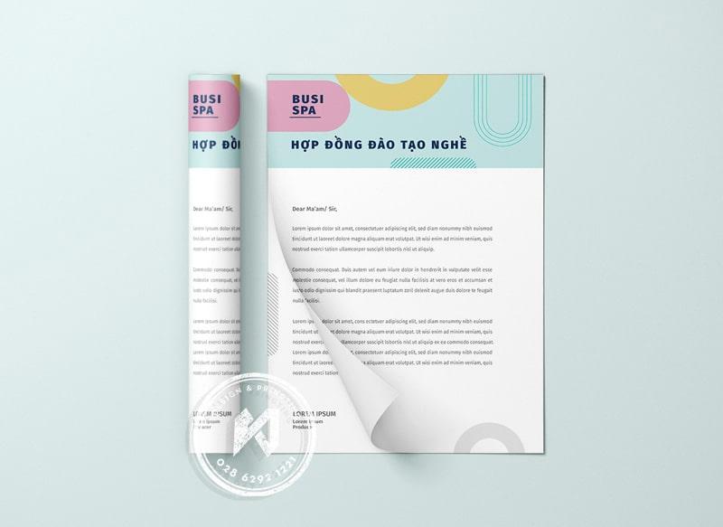 Thiết kế & In hợp đồng Spa, Nail, Thẩm mỹ viện chuyên nghiệp