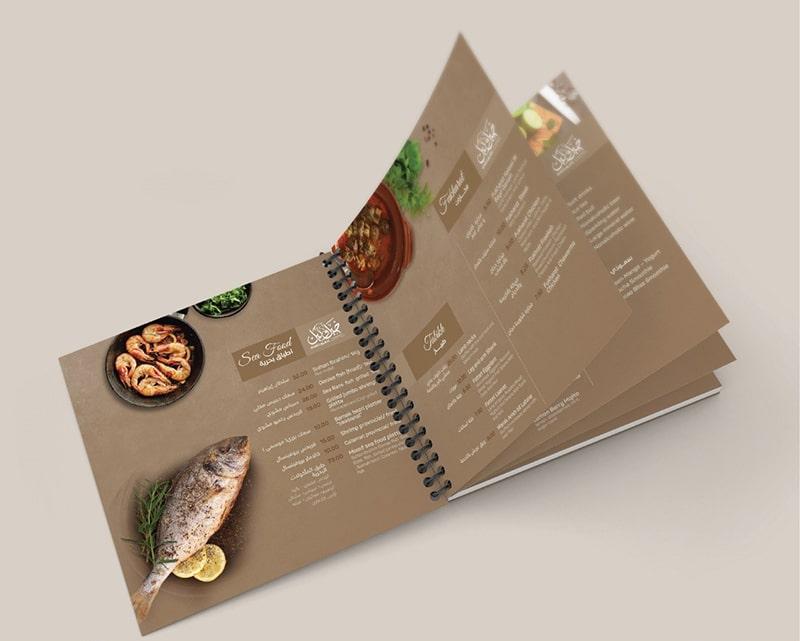Phong cách thiết kế menu nhà hàng mới lạ