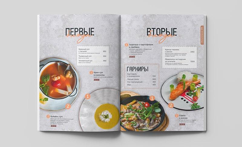 Mẫu thiết kế menu nước ngoài