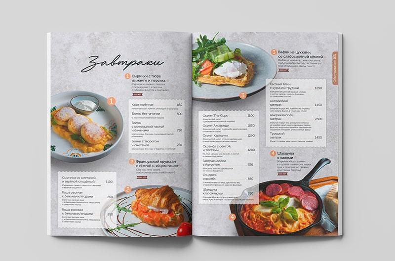 Thiết kế thực đơn đẹp tại các nhà hàng nước ngoài