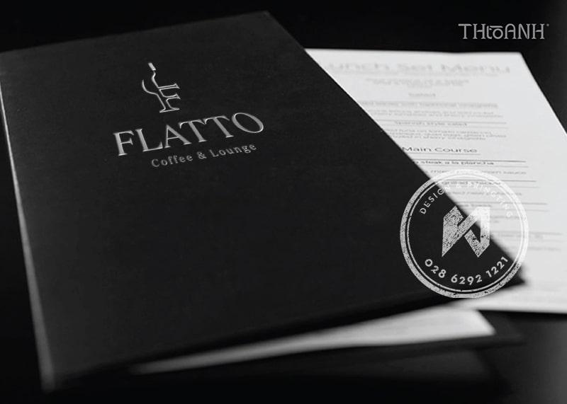 Phần menu chính của Flatto Coffee & Lounge