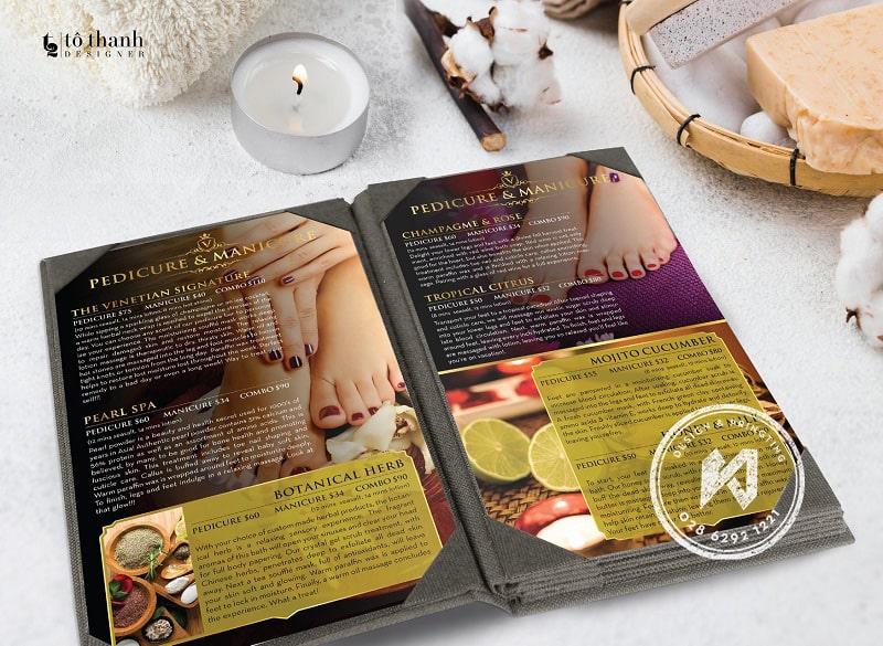 Thiết kế menu nail bar chuyên nghiệp