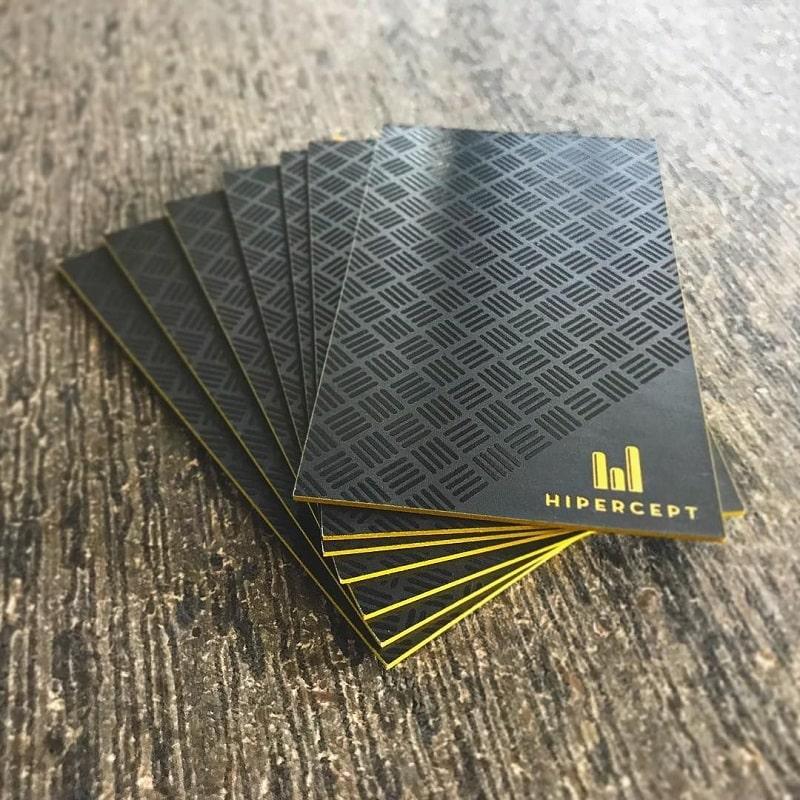 In name card Luxury viền màu cạnh UV spot