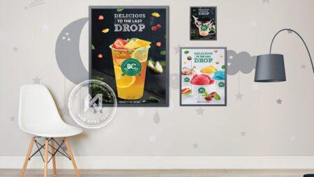 Thiết kế poster quán cà phê, quán trà sữa siêu đẹp