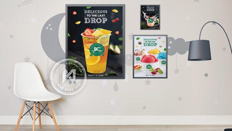 Thiết kế poster quán cà phê, trà sữa