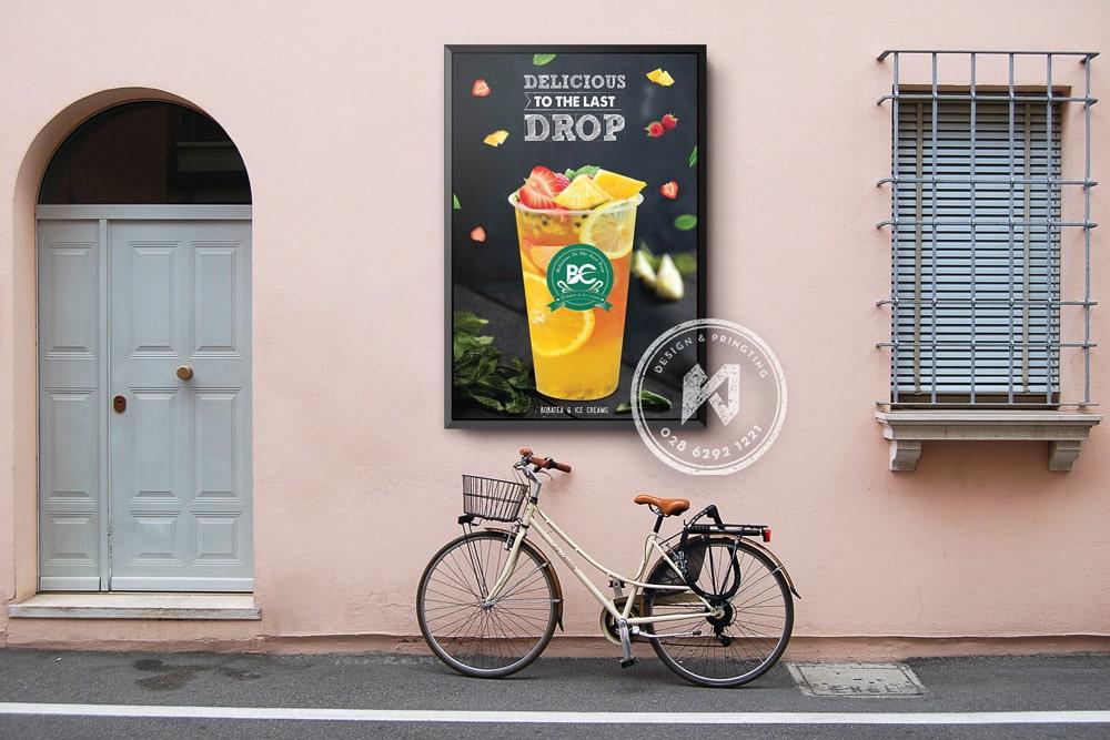 Mockup poster treo tường tuyệt đẹp